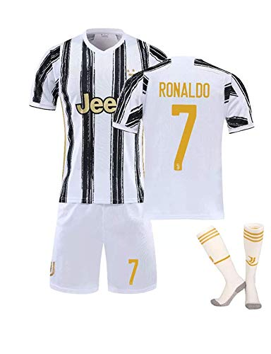 CFLL Soccer T-Shirt Set Ronaldo #7, Home and Away Dybala #10 Jersey, 2020-21 Training Clothes Suitable for Kids/Youth/Adult,D,XS