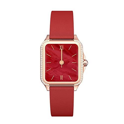 Smartwatch Frauen Sanag, E3-N Smartwatch Damen Android, Wasserdicht IP67, HD-Touchscreen (Rosa) (Pink)… (Red)
