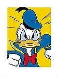 1art1 Donald Duck - Wütend Poster Kunstdruck 80 x 60 cm