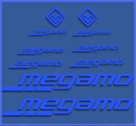 Ecoshirt I4-H6XH-QK10 Pegatinas Megamo Fram Dr1117 Vinilo Adesivi Decal Aufkleber Клей MTB...