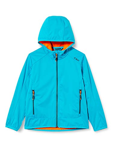 CMP Jungen Softshell Jacket with Fixed Hood Jacke, Light Blue, 140