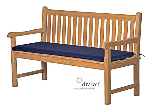 Bankauflage 110 x 40 cm, blau, dralon, waschbar ✓ lichtecht ✓ Made in Germany ✓