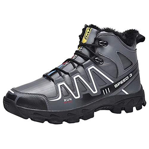 Hombre Botas De Nieve Senderismo Impermeables Deportes Zapatos Fur Forro Aire Libre Invierno Boots