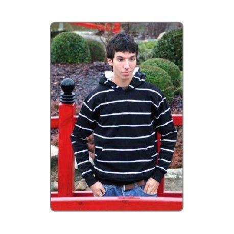 Tucuman Aventura - Rayures Capot Sweatshirt (Blanc-Rouge, XL)
