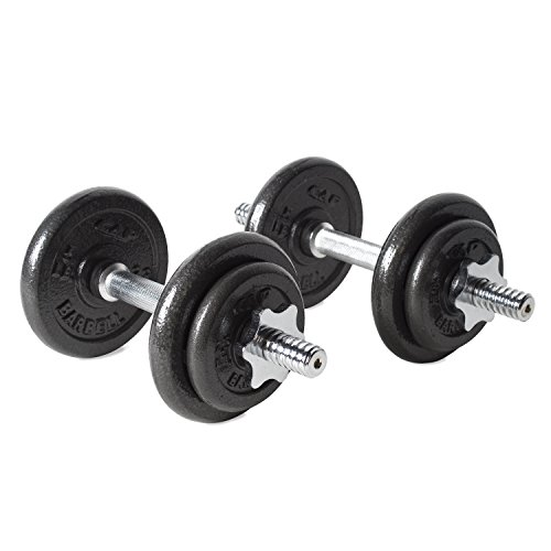 CAP Barbell 40-Pound Adjustable Dumbbell Set with...