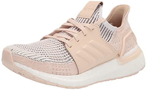 adidas Women's Ultraboost 19 w Running Shoe, Crystal White/Brown/Linen, 8.5 UK