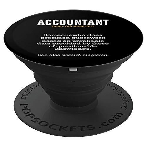 Accountant Definition Buchhalter Steuerberater Bilanz Lustig - PopSockets Ausziehbarer Sockel und Griff für Smartphones und Tablets