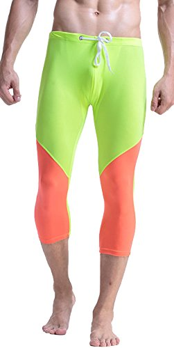 Mendove Mens Drawstring Training Fitness 3//4 Compression Tights Leggings