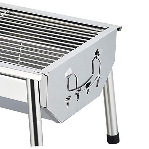 41pcGpA0ftL - WZHZJ Silber im Freien Grill Tisch, Einfacher Barbecue Faltbare Barbecue-Ofen Non Stick Pan Barbecue Outdoor Equipment
