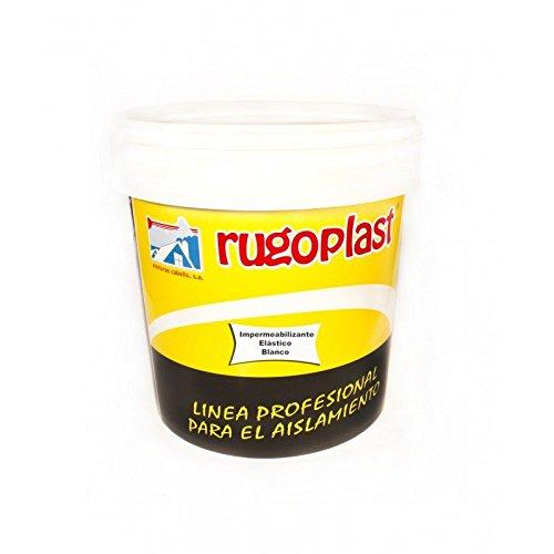 Rugoplast - Pintura impermeabilizante de alta calidad elástica antigoteras (0,750Ml), Blanco