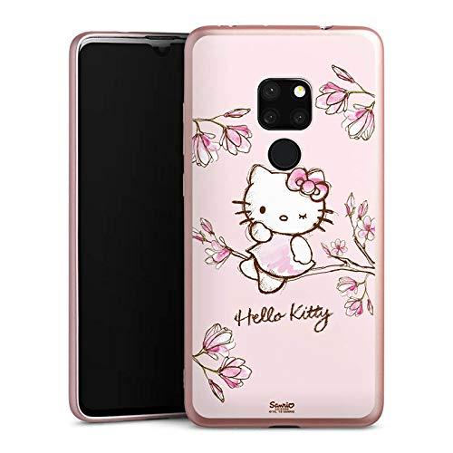 DeinDesign Silikon Hülle Rosé Gold Hülle Schutzhülle für Huawei Mate 20 Hello Kitty Merchandise Fanartikel Magnolia