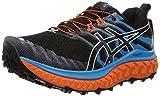 Asics Trabuco MAX, Zapatilla de Trail Running Hombre, Black/Digital Aqua, 43.5 EU