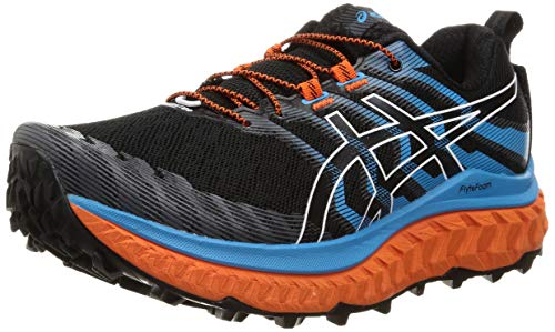 ASICS Herren Trabuco Max Trail Running Shoe, Black/Digital Aqua, 46.5 EU