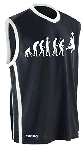 Basketball - Evolution ! Trikot Tank ohne Hose Shirt schwarz Gr.4XL