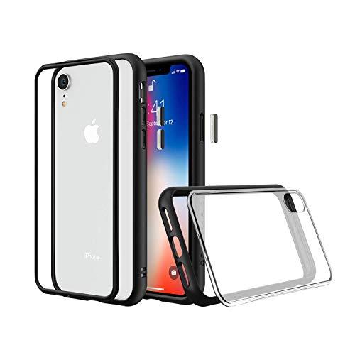 RhinoShield Coque Compatible avec [iPhone XR]   Mod NX - Protection Fine Personnalisable avec Technologie Absorption des Chocs [sans BPA] + [Programme de Remplacement] - Noir