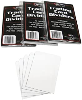 (3) BCW Brand Trading Card Divider Cards - 10-Pack - TCD - 30 Cards Total