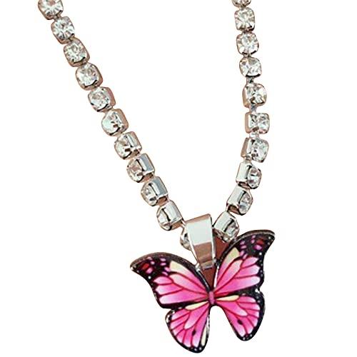 DAIHUI Mariposa colgante tobillera cristal mariposa playa pie cadena accesorios para mujeres niñas (estilo 2)