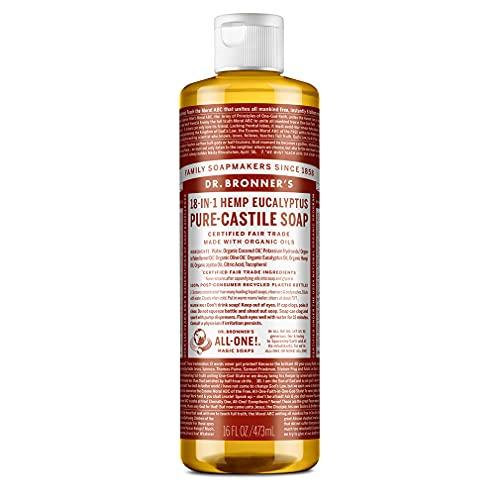 Dr. Bronner's Savon liquide pur de Castille à l'eucalyptus bio