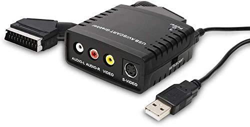 DIGITNOW! Scart Video Grabber Scheda Acquisizione Video, Capture RCA Scart Hi8 VHS su DVD Convertiori USB Adattatori