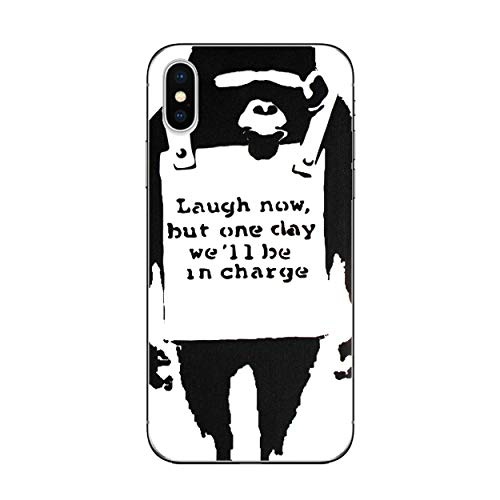 I-CHOOSE LIMITED Banksy gel case voor smartphone Apple iPhone X Aap