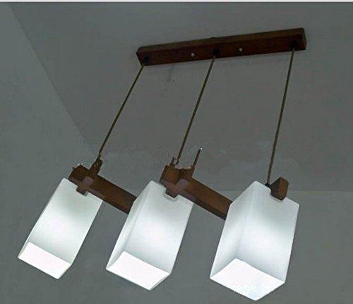 Gowe Rustikale Kronleuchter Holz Glas Hängeleuchte Lampadari Moderne Kronleuchter 3 Köpfe Hängeleuchte Lampadari Beleuchtung
