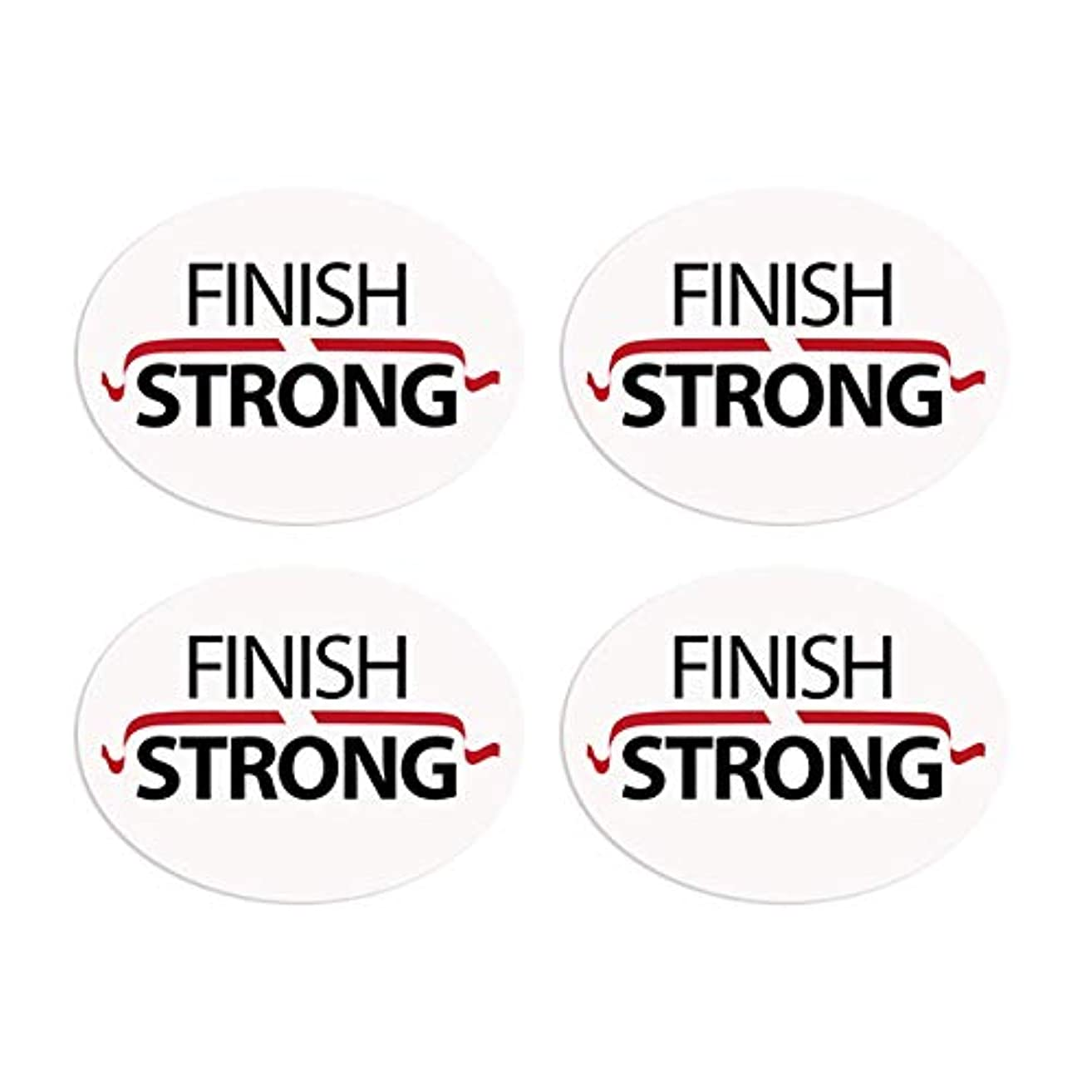 BibBoards SNAP & Lock for Event/Race Bibs Pinless Race/Event Bib Number Fasteners (Safety Pin Replacement) (Finish Strong)