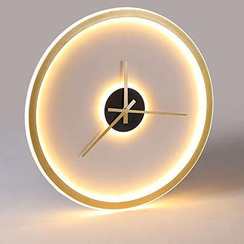 Lámpara de techo de dormitorio LED de oro reloj creativo estar regulable con control remoto ahorre energía protección para el medio ambiente protección para los ojos sala de niños cocina lámpara,Ø40