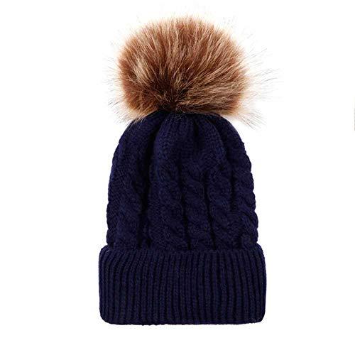 Mode Winter Strickmützen Für Frauen Beanie Dicke Warme Beiläufige Pompon Caps Weibliche Mützen Herbst Frauen Wollmützen Für Damen