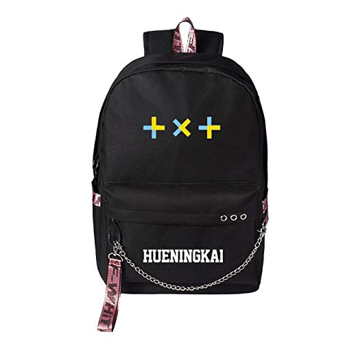WONS Backpack,School Bag Student Satchel,Hip-Hop TXT Printed Rucksack with USB Interface Unisex Simple Casual / A3 / 42×30×13cm