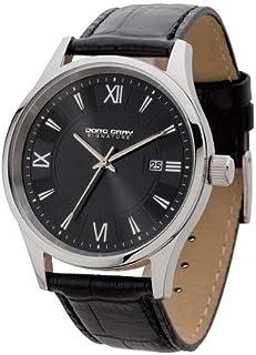 ヨーグ グレイ Jorg Gray JS2020 Black Dial and Black Leather Strap Men's Watch 男性 メンズ 腕時計 【並行輸入品】