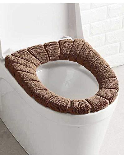 4 Pezzi Toilette Copri Sedile,Copriwater Tessuto,Copriwater Morbido,Coprisedile Tappetino WC, Bathroom Toilet Seat Cover,Morbidi e caldi, lavabili