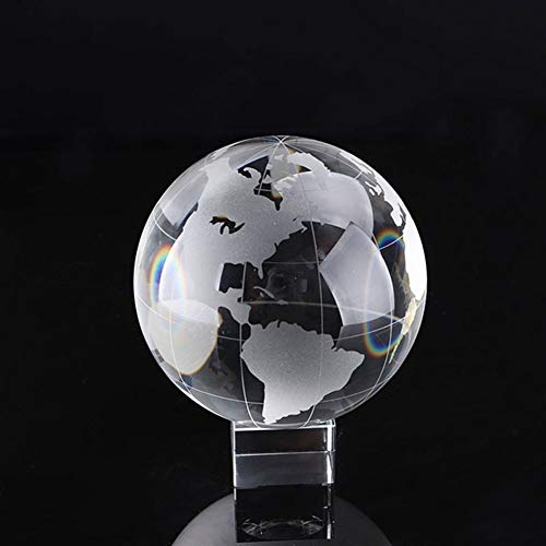 ACEACE 30 / 40mm Crystal Briefbeschwerer Glas Fußball Basketball Erde Galaxy Miniatures Feng Shui Handwerk for Geschenke Home Decor (Color : Earth, Size : 40mm with Base)