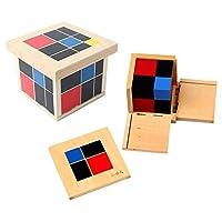 Legno bambini cubo binomiale e trinomiali childrens imparare l'algebra e giocattoli educativi di matematica Materiale: faggio Binomiale cubo è composto da 8 blocchi di legno che si incastrano in un modello binomiale, formando una rappresentazione con...