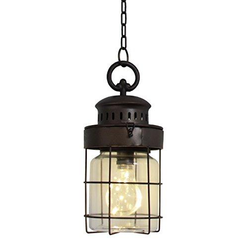 chemin_de_campagne Lanterne Lampe Bocal Suspension à Suspendre Industriel 29x13 cm