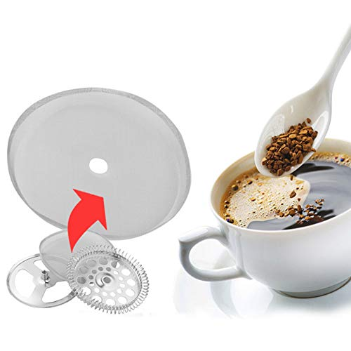 Yunnyp 5 Stück 304 Edelstahl Französische Drucktopf-Filter Netz, Kaffeefilter, tragbar, abnehmbare Kaffeekanne, Netzfilter, Zubehör 350ml