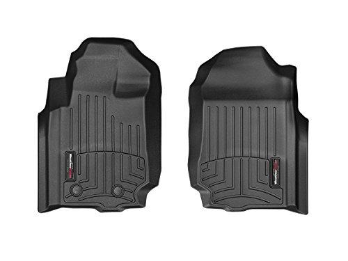 WeatherTech Passgenaue Fußmatten gummimatten passend für: Ford Ranger Verlängerte Kabine (Details) 2012-19|Schwarz|1. Reihe FloorLiner