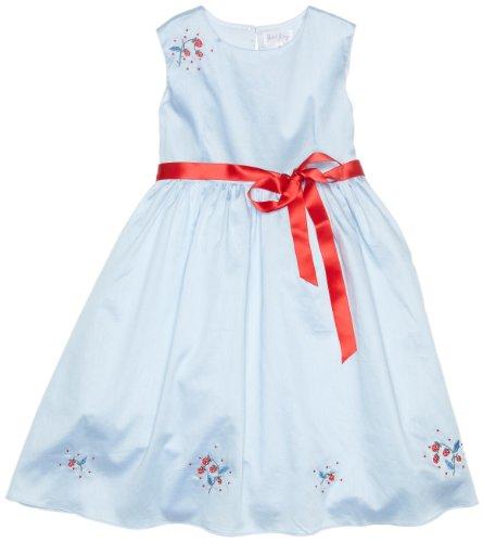 Rachel Riley - Vestido - Sin Mangas - para niña Azul Azul, Rojo 3 años