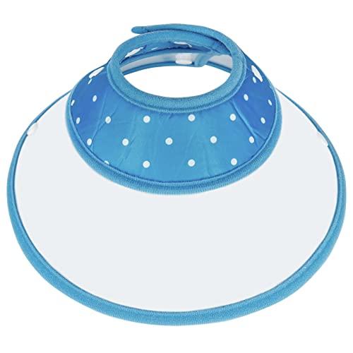 Vivifying Haustier Halskrause, Verstellbar von 17-23 cm Leichtgewicht Schutzkragen für Welpen, Kleine Hunde und Katzen (Blue)