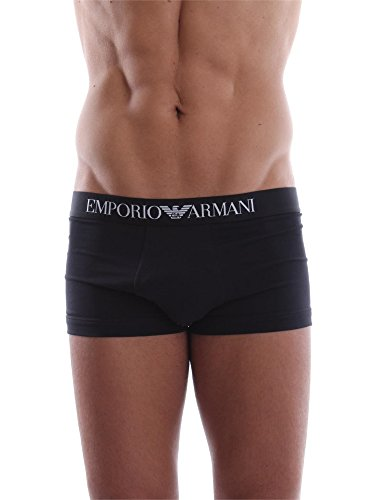 Emporio Armani Men's Knit Brief B Costume Entier, Nero (Noir), L Homme