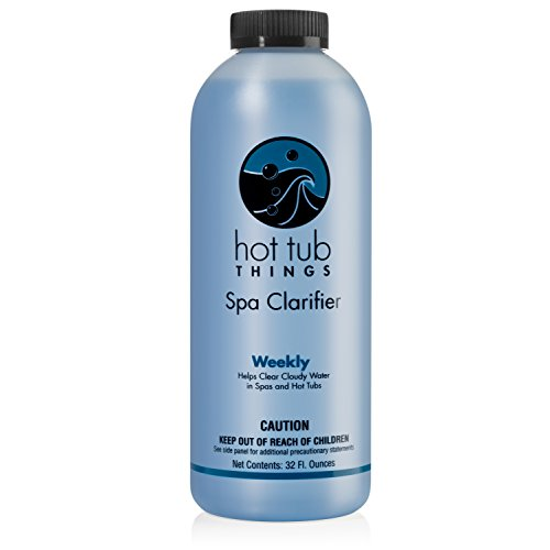 Hot Tub Things Spa Clarifier 32 Ounce - Quickly Eliminate Cloudy Hot Tub Water