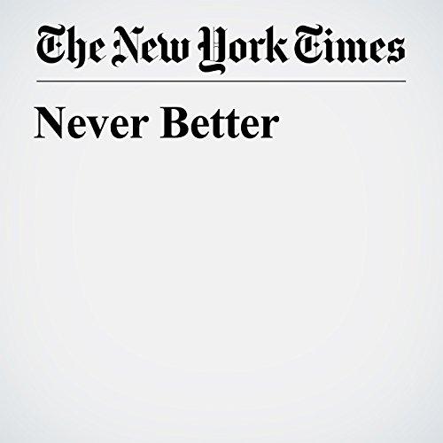 Never Better copertina