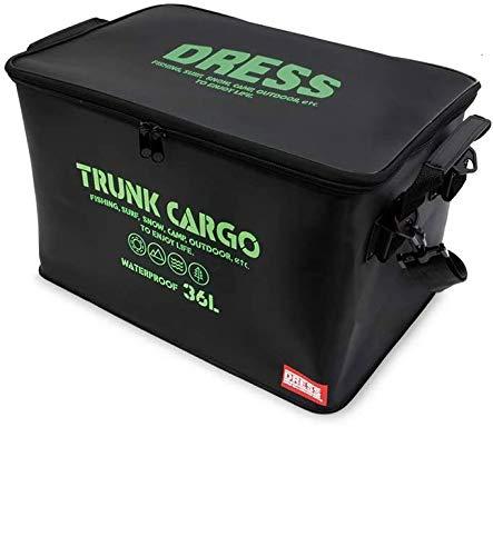 アウトドア収納ケース【DRESS】蓋つきトランクカーゴ・ミニ ブラックグリーン