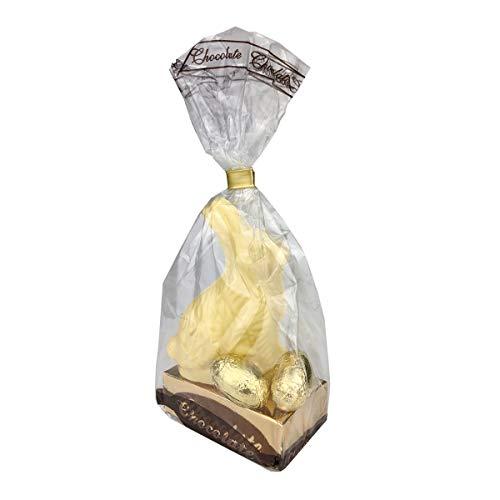 Ostern/Oster-Nester/Nester und Füllung wählbar/Schokolade/Osterhase - zum Selbstgestalten, Osternester&Füllungen:-Schokohase weiße Schokolde, Anzahl:-Einzelner Artikel