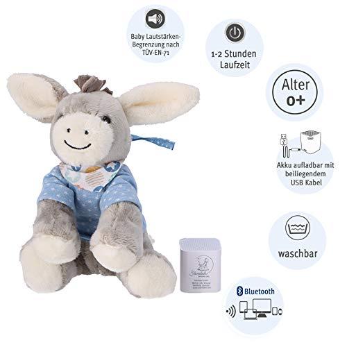 Sterntaler Baby-Chilling-Box Emmi (DE 34407560), Digitale Spieluhr, Inkl. Bluetooth-Lautsprecher und USB-Kabel, Alter: Babys ab der Geburt, 27 x 14 x 16 cm, Grau/Hellblau Mehrfarbig