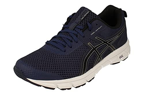 Asics Gel-33 Run Hombre Running Trainers 1011A638 Sneakers Zapatos (UK 9 US 10 EU 44, Peacoat Black 407)