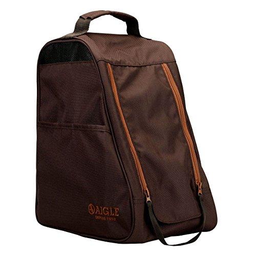 Aigle Dark Brown Ankle boot bag - hiking walking shoe carrier - waterproof bag