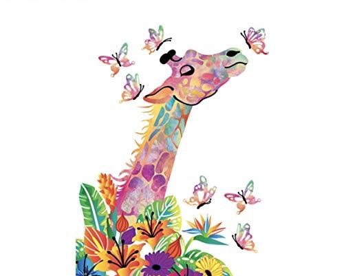 jjwka DIY Pintura Al Óleo Digital Volcano Dragón Volador Animal DIY Dibujo Pintura por Números Lage Tamaño Imagen En La Decoración De La Pared Regalo De Los Niños 40 * 50 Cm.