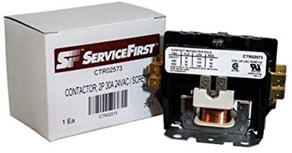 OEM CTR02573 / CTR-2573-30 Amp / 2-Pole / 24V Coil Contactor for Trane/American Standard