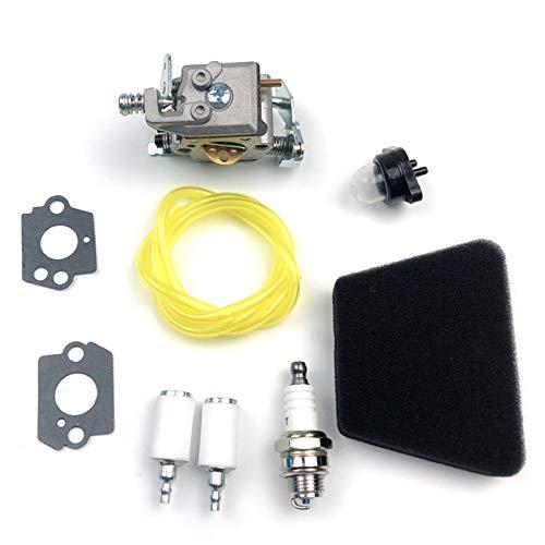 Hbaebdoo Set Filtro Aria Carburatore per Partner 351352370371390391401420422 Motosega 5300718-21 per Walbro 33-29