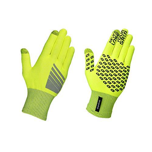 GripGrab Radsport Primavera Hi-Vis Übergangshandschuh Winter Fahrrad Handschuhe, Gelb, XL/XXL
